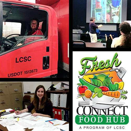 Fresh Connect Food Hub Picture Collage